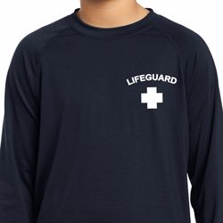 Lifeguard Pocket Print Kids Dry Wicking Long Sleeve Shirt