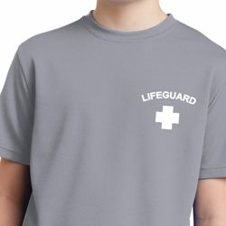 Lifeguard Pocket Print Kids Moisture Wicking Shirt