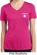Lifeguard Pocket Print Ladies Moisture Wicking V-neck Shirt