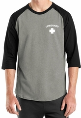 Lifeguard Raglan Shirt Pocket Print