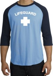 Lifeguard T-Shirt Adult Raglan 3/4 Sleeve