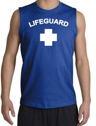 Lifeguard T-shirt Adult Sleeveless Muscle Shirt