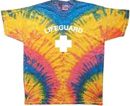 Lifeguard T-shirt - Adult Tie Dye Woodstock