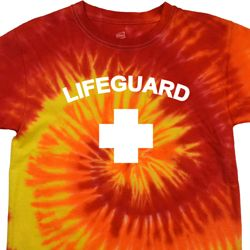 Lifeguard Tie Dye Shirt