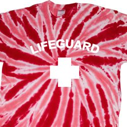 Lifeguard Twist Tie Dye Shirt