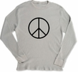 Lightweight Thermal Peace Symbol Long Sleeve Tee