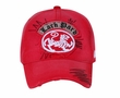 Lion on Distressed Patch Vintage Hat - Lackpard Cap - Red
