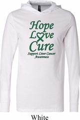 Liver Cancer Awareness Hope Love Cure Lightweight Hoodie