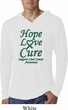 Liver Cancer Awareness Hope Love Cure Lightweight Hoodie Tee
