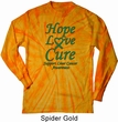 Liver Cancer Awareness Hope Love Cure Long Sleeve Tie Dye
