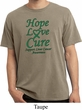 Liver Cancer Awareness Hope Love Cure Pigment Dyed Shirt