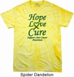 Liver Cancer Awareness Hope Love Cure Tie Dye Shirt