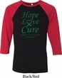 Liver Cancer Awareness Tee Hope Love Cure Raglan Shirt