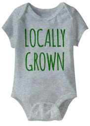 Locally Grown Funny Baby Romper Grey Infant Babies Creeper
