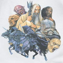 Lord Of The Rings Collage Of Evil Shirts