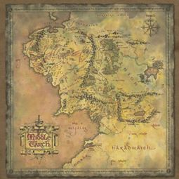Lord Of The Rings Earth Map Shirts