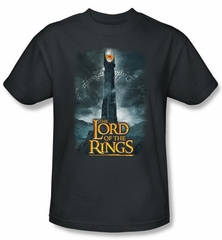 Lord Of The Rings Kids T-Shirt Eye Of Sauron Charcoal Youth Tee Shirt