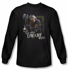 Lord Of The Rings Long Sleeve T-Shirt Best Dwarf Black Tee