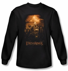 Lord Of The Rings Long Sleeve T-Shirt Riders of Rohan Black Tee