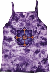 Lotus Flower Yoga New Age Ladies Adult Purple Tie Dye Tank Top