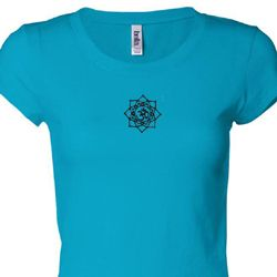 Black Lotus OM Patch Ladies Yoga Shirts