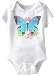 Love Butterfly Funny Baby Romper White Infant Babies Creeper