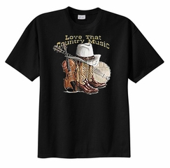 Love That Country Music Adult T-shirt Tee Shirt