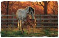 "Loving Horses Microfiber Fleece Blanket - 36"" X 58"""
