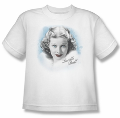 Lucille Lucy Ball Kids Shirt In Blue White Youth Tee T-Shirt