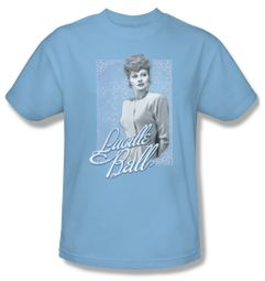 Lucille Lucy Ball Shirt Blue Lace Adult Light Blue Tee T-Shirt