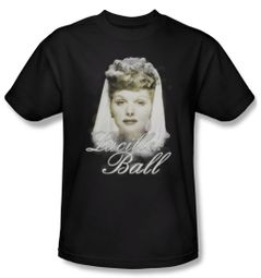 Lucille Lucy Ball Shirt Glowing Adult Black Tee T-Shirt