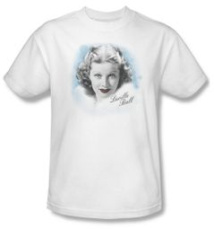 Lucille Lucy Ball Shirt In Blue Adult White Tee T-Shirt