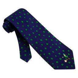 Luck Of The Irish Blue Silk Tie Necktie � Men�s Holiday Neck Tie