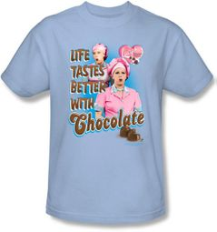 Lucy Shirt - Better with Chocolate Light Blue Adult Tee
