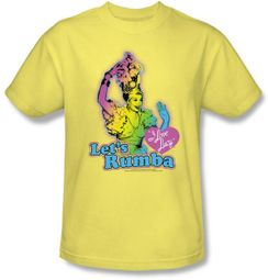 Lucy Shirt - Let's Rumba Adult Banana Yellow Tee