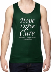Lung Cancer Hope Love Cure Dry Wicking Tank Top