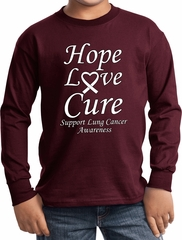 Lung Cancer Hope Love Cure Kids Long Sleeve