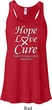 Lung Cancer Hope Love Cure Ladies Flowy Racerback