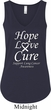 Lung Cancer Hope Love Cure Ladies Flowy V-neck Tank Top