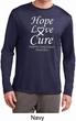 Lung Cancer Tee Hope Love Cure Dry Wicking Long Sleeve
