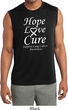 Lung Cancer Tee Hope Love Cure Dry Wicking Sleeveless Shirt
