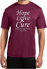 Lung Cancer Tee Hope Love Cure Dry Wicking T-shirt