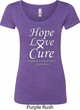 Lung Cancer Tee Hope Love Cure Ladies Scoop Neck