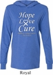 Lung Cancer Tee Hope Love Cure Lightweight Hoodie