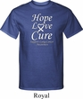 Lung Cancer Tee Hope Love Cure Tall Shirt