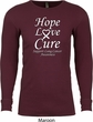 Lung Cancer Tee Hope Love Cure Thermal Shirt