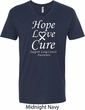 Lung Cancer Tee Hope Love Cure V-neck