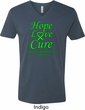 Lymphoma Cancer Awareness Hope Love Cure V-neck