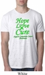 Lymphoma Cancer Hope Love Cure Burnout Shirt