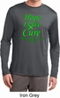 Lymphoma Cancer Hope Love Cure Dry Wicking Long Sleeve